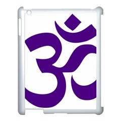 Hindu Om Symbol (purple) Apple Ipad 3/4 Case (white)