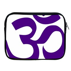 Hindu Om Symbol (purple) Apple Ipad 2/3/4 Zipper Cases by abbeyz71