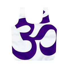 Hindu Om Symbol (purple) Full Print Recycle Bags (m)  by abbeyz71