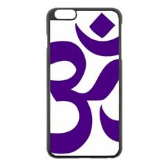 Hindu Om Symbol (purple) Apple Iphone 6 Plus/6s Plus Black Enamel Case by abbeyz71