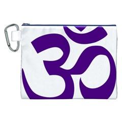 Hindu Om Symbol (purple) Canvas Cosmetic Bag (xxl) by abbeyz71