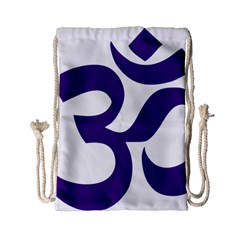 Hindu Om Symbol (purple) Drawstring Bag (small) by abbeyz71