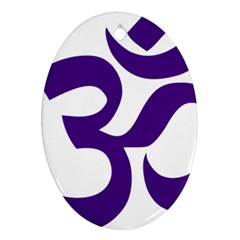 Hindu Om Symbol (purple) Ornament (oval) by abbeyz71