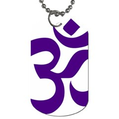 Hindu Om Symbol (purple) Dog Tag (one Side) by abbeyz71