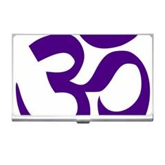 Hindu Om Symbol (purple) Business Card Holders by abbeyz71