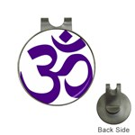 Hindu Om Symbol (Purple) Hat Clips with Golf Markers Front