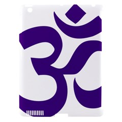 Hindu Om Symbol (purple) Apple Ipad 3/4 Hardshell Case (compatible With Smart Cover) by abbeyz71