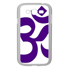 Hindu Om Symbol (purple) Samsung Galaxy Grand Duos I9082 Case (white) by abbeyz71