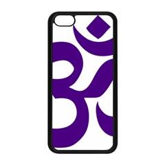 Hindu Om Symbol (purple) Apple Iphone 5c Seamless Case (black) by abbeyz71