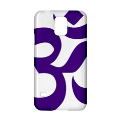 Hindu Om Symbol (purple) Samsung Galaxy S5 Hardshell Case  by abbeyz71