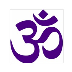Hindu Om Symbol (purple) Small Satin Scarf (square) by abbeyz71
