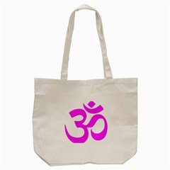 Hindu Om Symbol (magenta) Tote Bag (cream) by abbeyz71