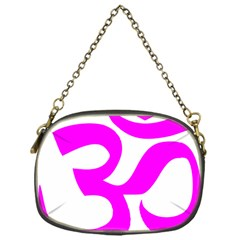 Hindu Om Symbol (magenta) Chain Purses (one Side)  by abbeyz71