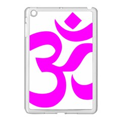 Hindu Om Symbol (magenta) Apple Ipad Mini Case (white) by abbeyz71