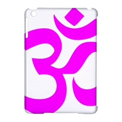 Hindu Om Symbol (magenta) Apple Ipad Mini Hardshell Case (compatible With Smart Cover) by abbeyz71