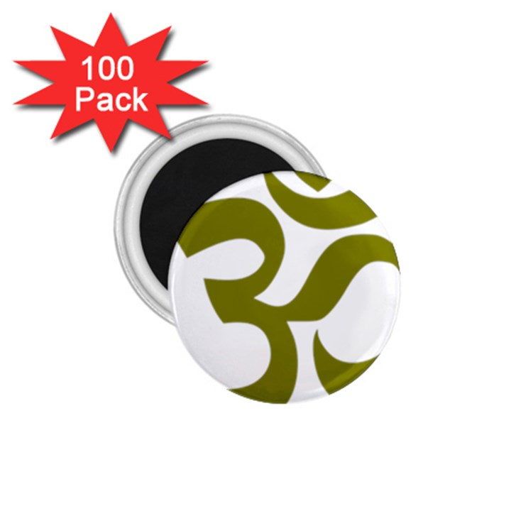 Hindi Om Symbol (Olive) 1.75  Magnets (100 pack)