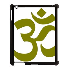 Hindi Om Symbol (olive) Apple Ipad 3/4 Case (black) by abbeyz71