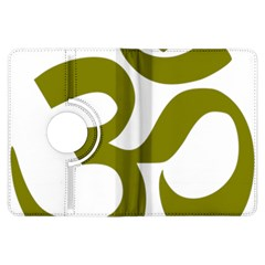 Hindi Om Symbol (olive) Kindle Fire Hdx Flip 360 Case by abbeyz71