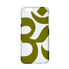 Hindi Om Symbol (olive) Apple Iphone 6/6s Hardshell Case by abbeyz71