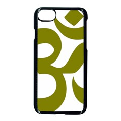 Hindi Om Symbol (olive) Apple Iphone 7 Seamless Case (black) by abbeyz71