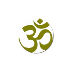 Hindu Om Symbol (olive) Golf Ball Marker (10 Pack) by abbeyz71