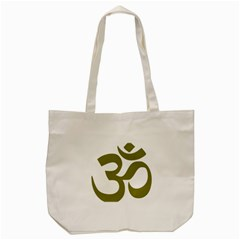 Hindu Om Symbol (olive) Tote Bag (cream) by abbeyz71