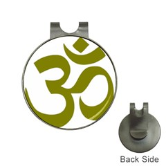 Hindu Om Symbol (olive) Hat Clips With Golf Markers by abbeyz71