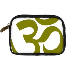 Hindu Om Symbol (olive) Digital Camera Cases by abbeyz71