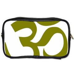 Hindu Om Symbol (olive) Toiletries Bags 2 Side by abbeyz71