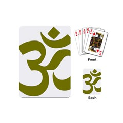 Hindu Om Symbol (olive) Playing Cards (mini)  by abbeyz71