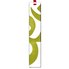 Hindu Om Symbol (olive) Large Book Marks by abbeyz71