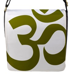 Hindu Om Symbol (olive) Flap Messenger Bag (s) by abbeyz71