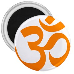 Hindu Om Symbol (orange) 3  Magnets by abbeyz71