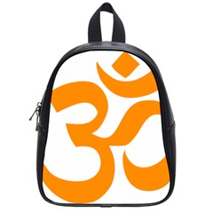 Hindu Om Symbol (orange) School Bags (small)  by abbeyz71