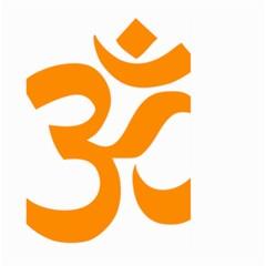 Hindu Om Symbol (orange) Large Garden Flag (two Sides) by abbeyz71