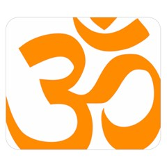 Hindu Om Symbol (orange) Double Sided Flano Blanket (small)  by abbeyz71