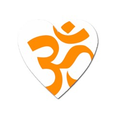 Hindu Om Symbol (orange) Heart Magnet by abbeyz71