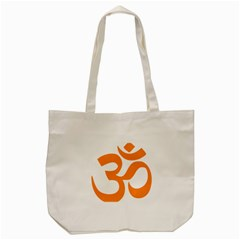 Hindu Om Symbol (orange) Tote Bag (cream) by abbeyz71
