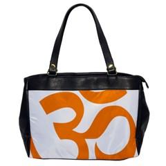 Hindu Om Symbol (orange) Office Handbags by abbeyz71