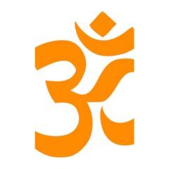 Hindu Om Symbol (orange) Shower Curtain 48  X 72  (small)  by abbeyz71