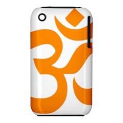Hindu Om Symbol (orange) Iphone 3s/3gs by abbeyz71
