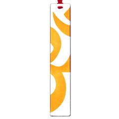 Hindu Om Symbol (orange) Large Book Marks by abbeyz71
