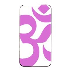Hindu Om Symbol (bright Purple) Apple Iphone 4/4s Seamless Case (black) by abbeyz71