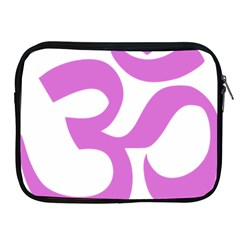 Hindu Om Symbol (bright Purple) Apple Ipad 2/3/4 Zipper Cases by abbeyz71
