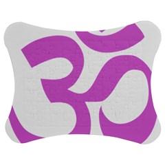 Hindu Om Symbol (bright Purple) Jigsaw Puzzle Photo Stand (bow) by abbeyz71