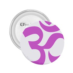 Hindu Om Symbol (bright Purple) 2 25  Buttons by abbeyz71
