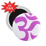 Hindu Om Symbol (Bright Purple) 2.25  Magnets (10 pack)  Front