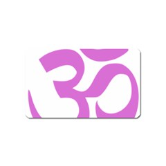 Hindu Om Symbol (bright Purple) Magnet (name Card) by abbeyz71