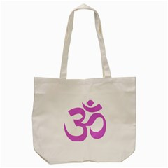 Hindu Om Symbol (bright Purple) Tote Bag (cream) by abbeyz71