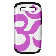 Hindu Om Symbol (bright Purple) Samsung Galaxy S Iii Hardshell Case (pc+silicone) by abbeyz71